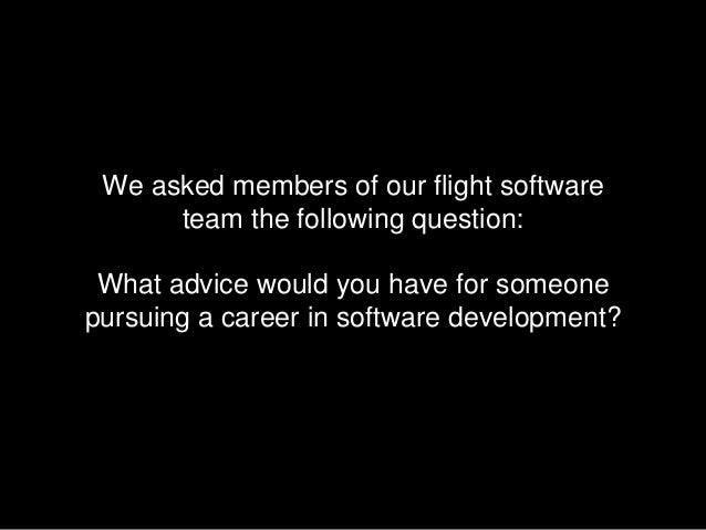 SpaceX Software Engineer Career Advice