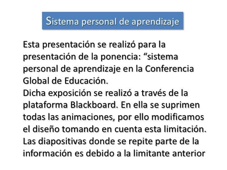 Sistema personal de aprendizaje Slide 2