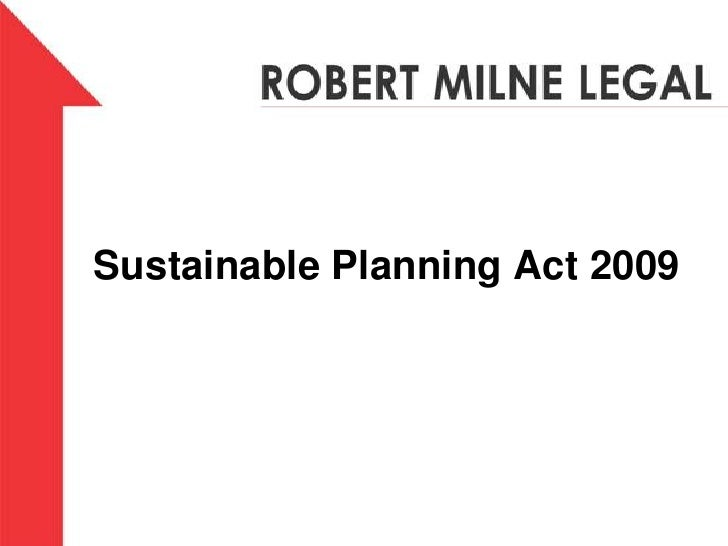 Sustainable Planning Act2009<br />