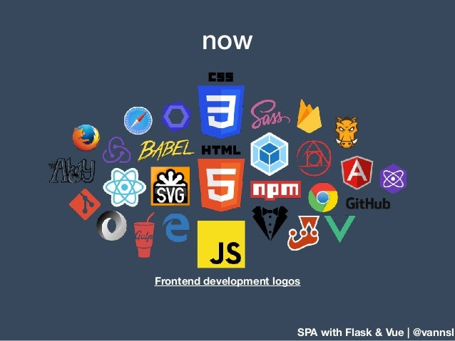 SPA with Flask & Vue | @vannsl now Frontend development logos