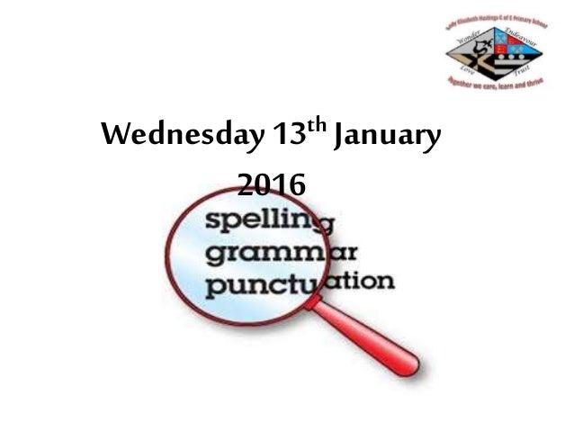 Wednesday 13th January 2016