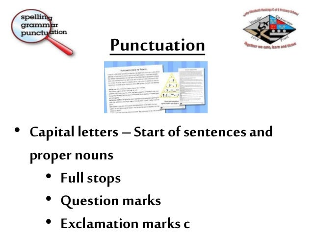 Punctuation Statutory National Curriculum 2016 – Y2 All children need to learn to - Make simple additions, revisions and c...