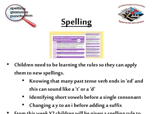 End of Year Expectations Statutory National Curriculum 2016 – Y2 Writing: Transcription Spell by: segmenting spoken words ...