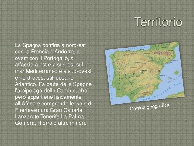 Cartina Spagna Fuerteventura.Cartina Spagna Con Regioni E Capoluoghi