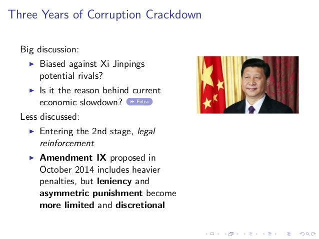 Three Years of Corruption Crackdown Big discussion: Biased against Xi Jinpings potential rivals? Is it the reason behind c...