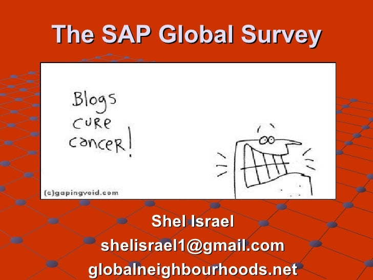 The SAP Global Survey Shel Israel [email_address] globalneighbourhoods.net