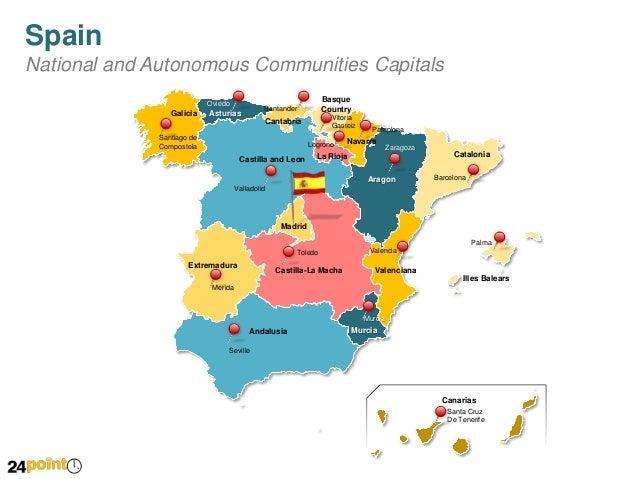 Spain Map Editable PowerPoint Slides