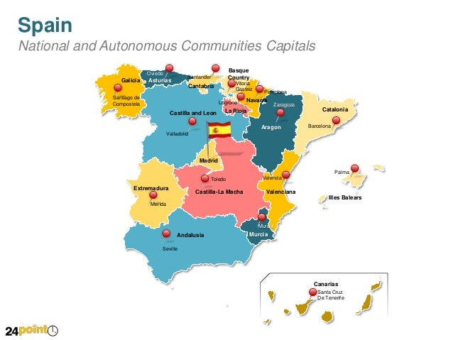 Spain Map  Editable PowerPoint Slides
