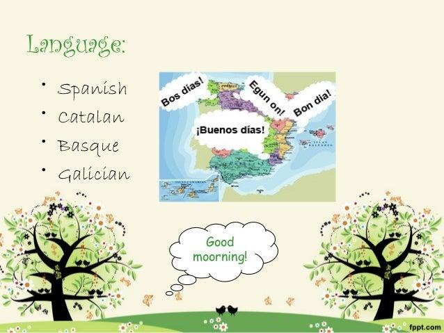 Language: •   Spanish •   Catalan •   Basque •   Galician                  Good                moorning!