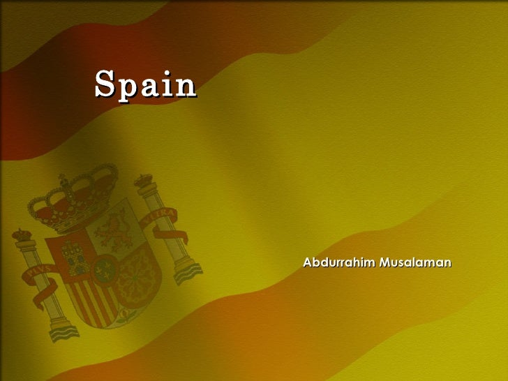 Spain Abdurrahim Musalaman
