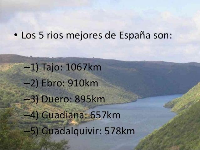 Los Aguas• Hay 5000 kilometros de lineade costa y la Océano Atlánticoal oeste es muy importantepara comercio.• España es e...
