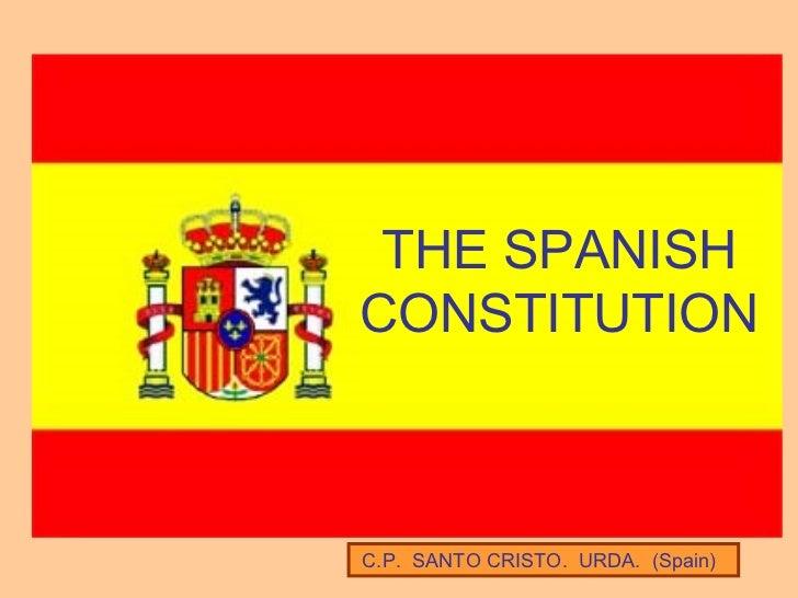 C.P.  SANTO CRISTO.  URDA.  (Spain) THE SPANISH CONSTITUTION