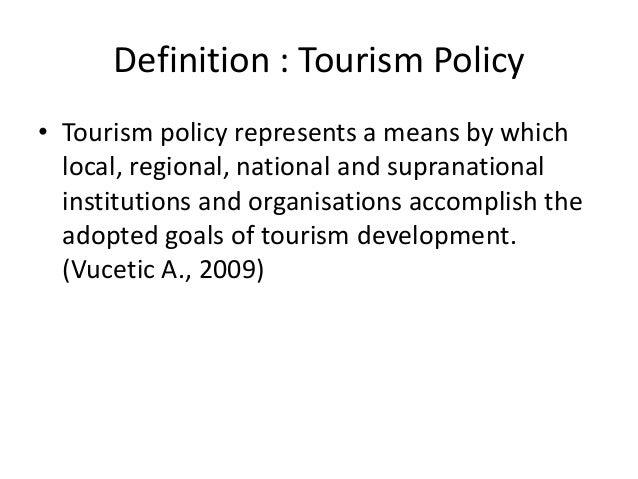 national tourism definition