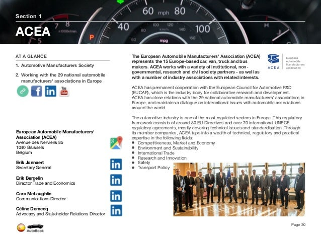 Section 2 Automotive Organizations in Spain Page 31 The full version of the Spain AutoBook includes profiles of the followi...
