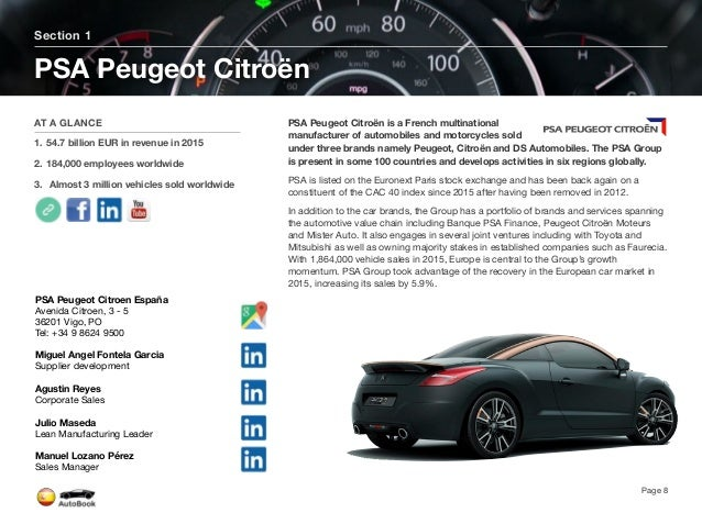 Section 2 Automotive OEM in Spain Page 9 The full version of the Spain AutoBook includes profiles of the following OEMs. Y...