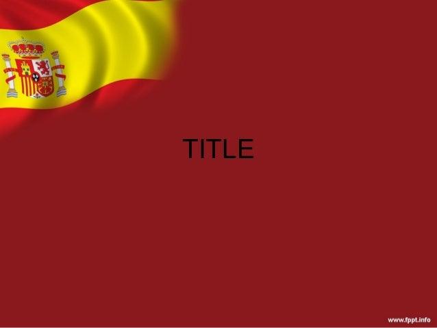 Spain flag background template for powerpoint presentation toneelgroepblik Choice Image