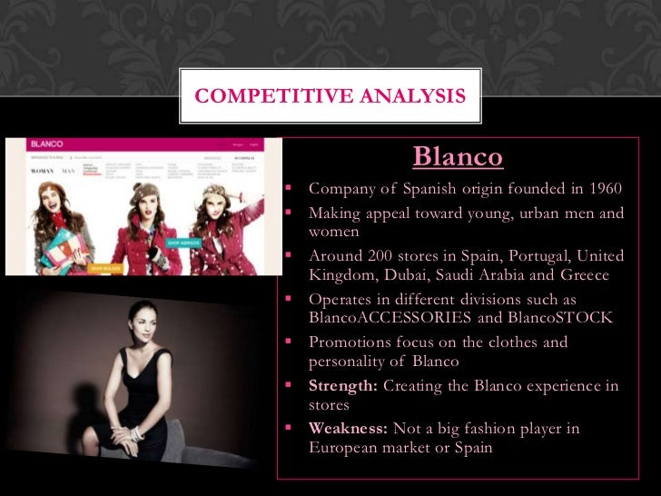 fashion industry competitive analysis