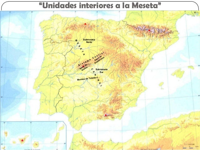 Spain physical map spanish