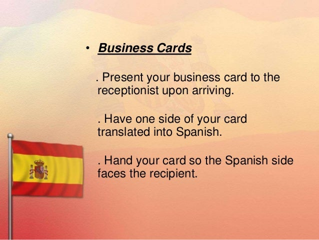 Spain ppts 1 17 business cards reheart Image collections