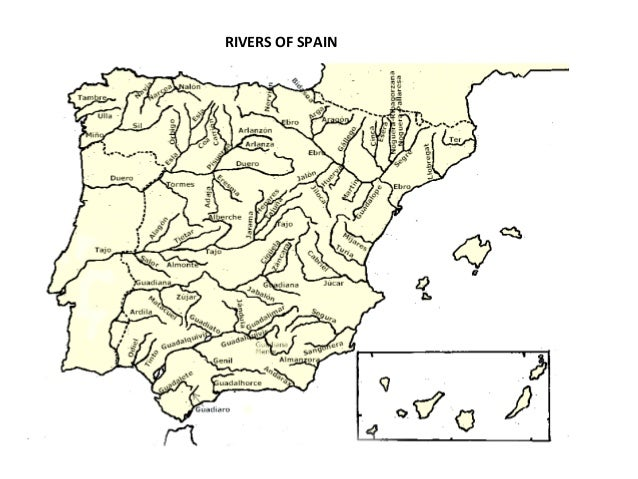 Map Of Spain Rivers.Spain S Relief Rivers And Protected Environments