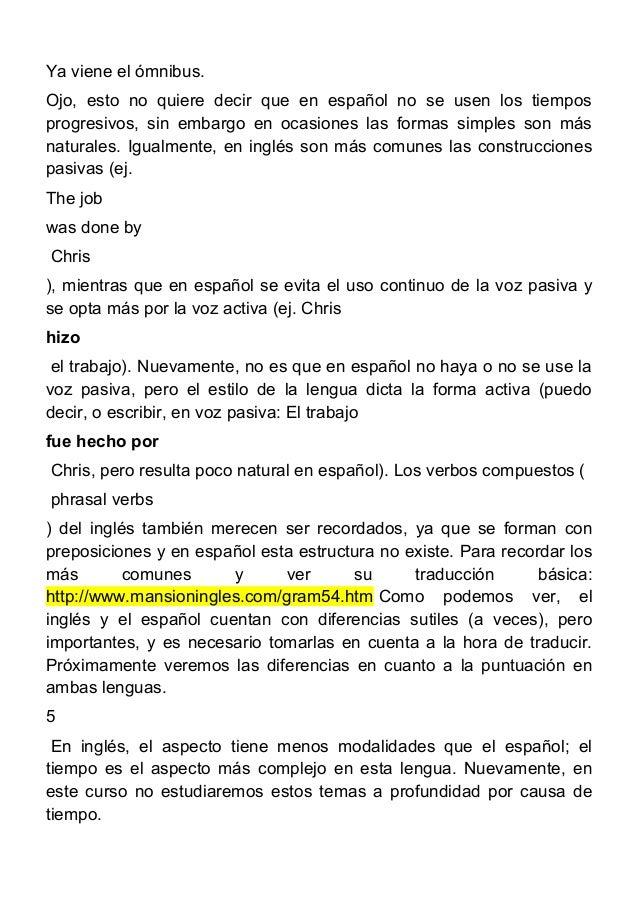 Span 4396 rasgos diferenciales entre el inglés y el castellano i