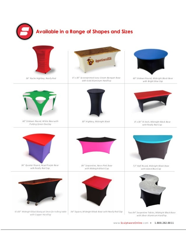 256 & Spandex Table Covers