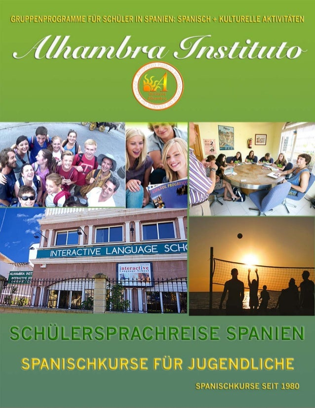 Junior Spanisch Programm (nur für Gruppen möglich). Im Alhambra Institut ist es schon lange Tradition junge Schüler im son...