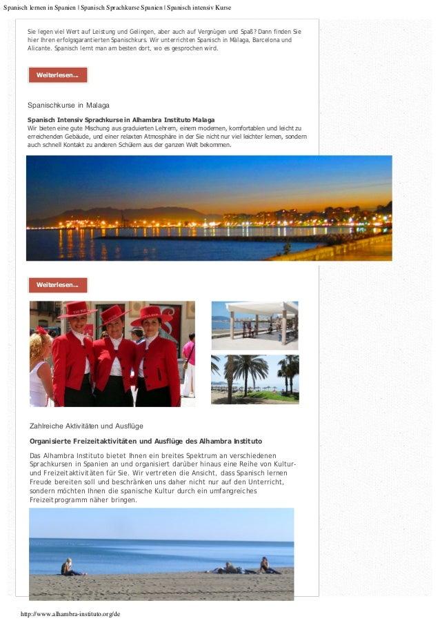 Spanisch lernen in Spanien :: Spanisch Sprach Kurse in Spanien :: Sprachreisen nach Spanien Slide 3