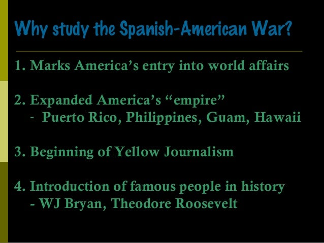 an introduction to the history of spanish american war In a conflict lasting only six weeks, the united states defeated spain and became   the spanish-american war lasted only six weeks and resulted in a decisive.