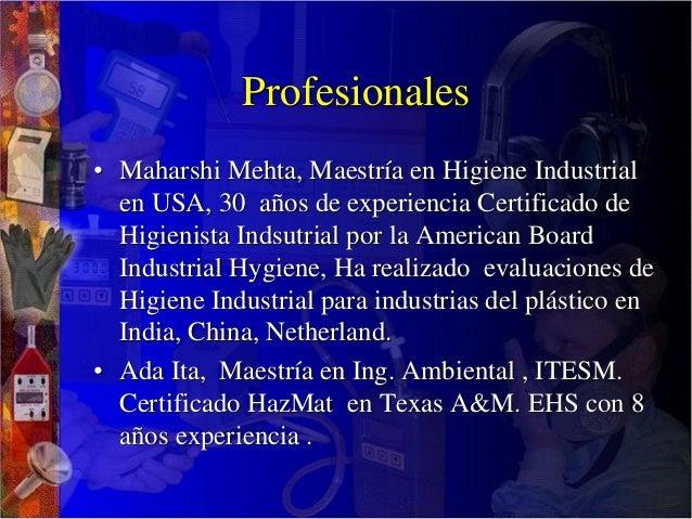 Spanish- Applied Industrial Hygiene Slide 3