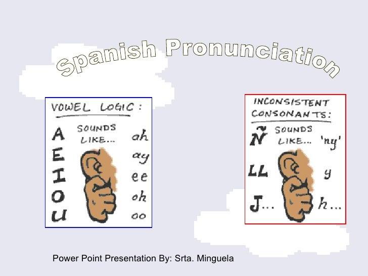 Spanish Pronunciation  Power Point Presentation By: Srta. Minguela