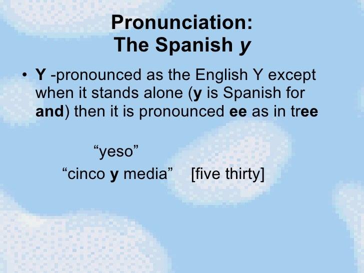 Y spanish
