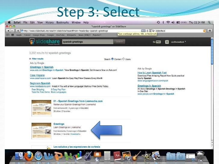 How to use slideshare spanish greetingstx step 3 select m4hsunfo Images