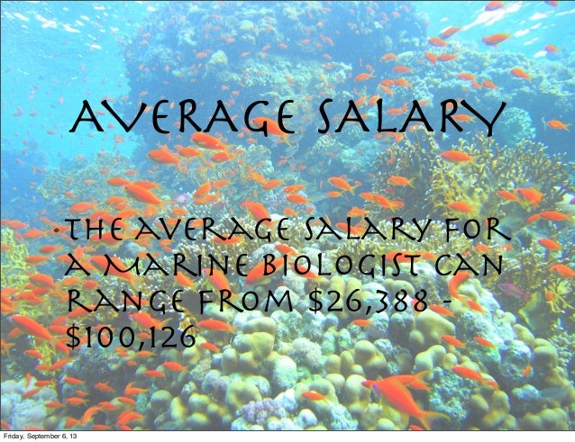 4 average salary the average salary for a marine biologist
