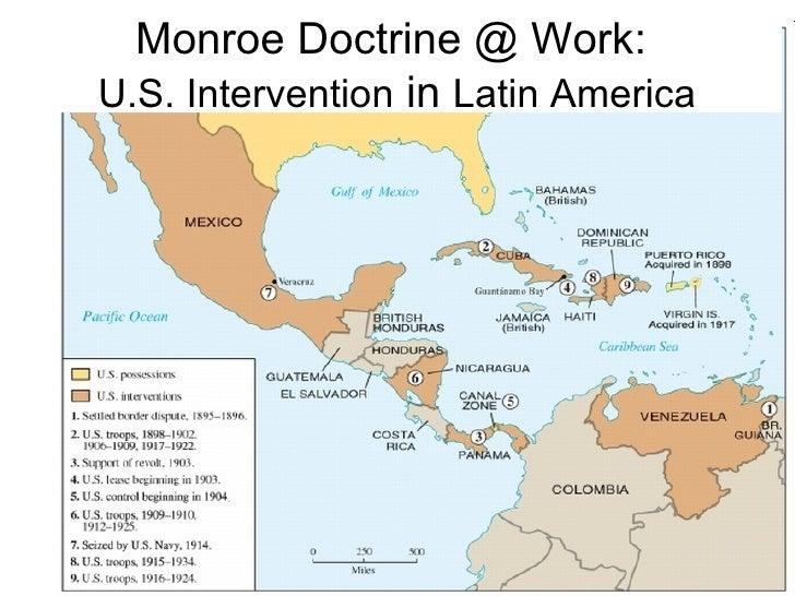 Spanish American War Plus - Map of the us during monroe doctrine