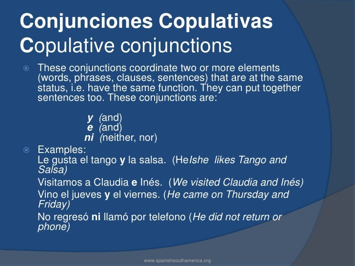 how to say so in spanish conjunction