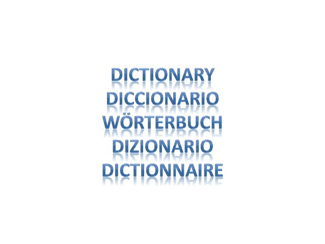 what is dictionary in spanish