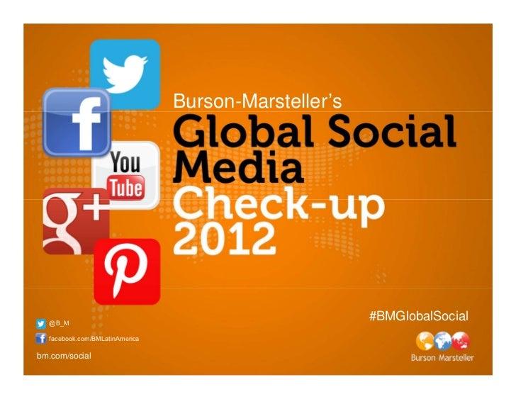 Burson-Marsteller's  @B_M                                                      #BMGlobalSocial  facebook.com/BMLatinAmeric...