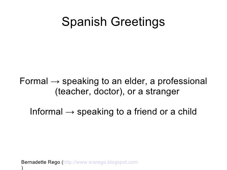 Spanish greetings spanish greetingsformal m4hsunfo