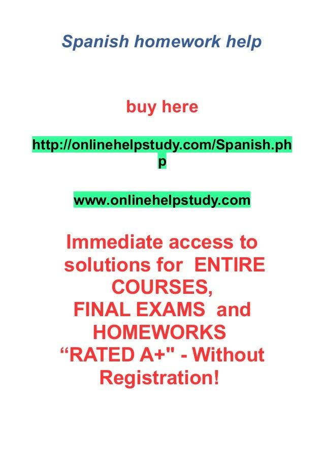 Homework help for spanish
