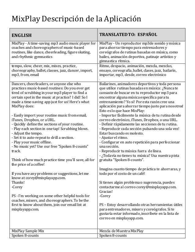 Spanish Language Translated Content