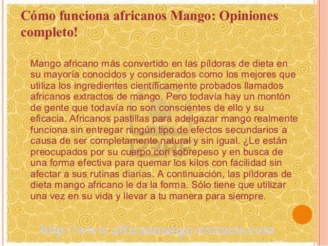 Cómo funciona africanos Mango: Opinionescompleto! Mango africano más convertido en las píldoras de dieta en su mayoría con...