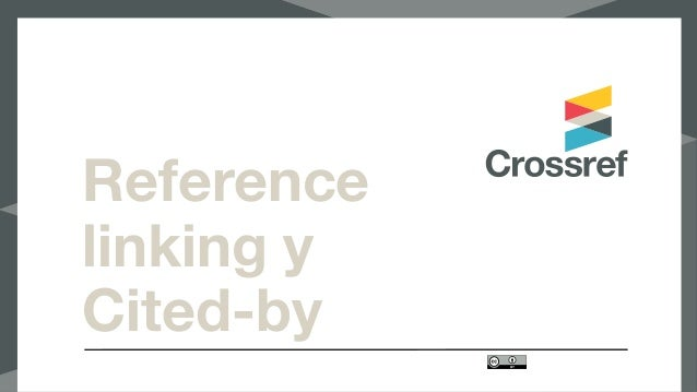 Reference linking y Cited-by