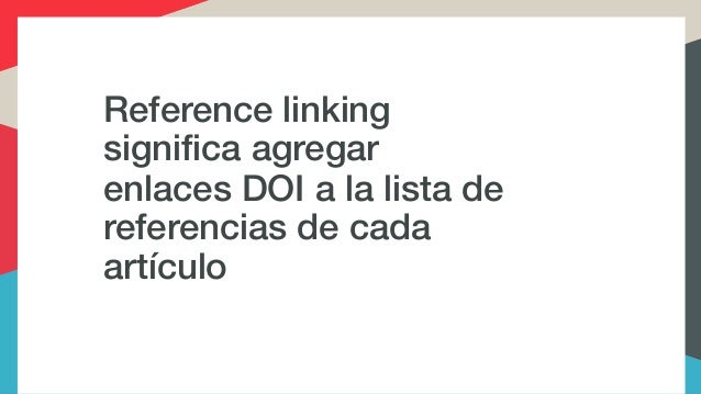 reference linking and cited by in spanish Slide 3