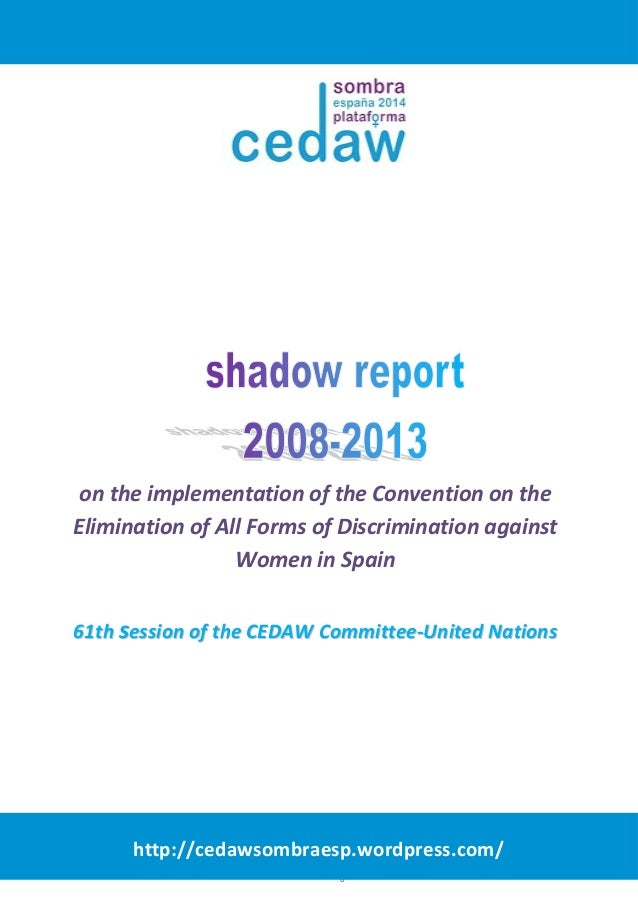 on the implementation of the Convention on the  Elimination of All Forms of Discrimination against  Women in Spain  6611tt...