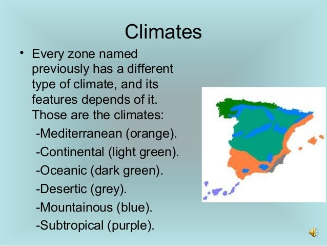 Spanish landscapes and climates
