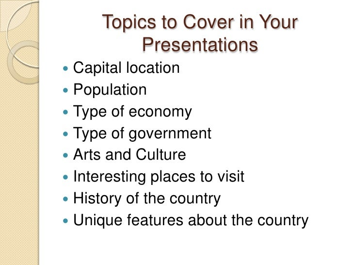 spanish speaking countries travel log presentation topics