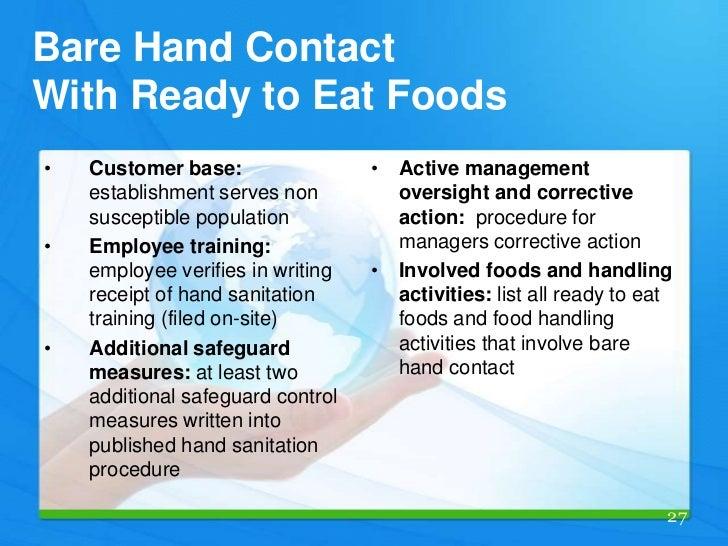 Food Safety Bare Hands ~ English food handler guide
