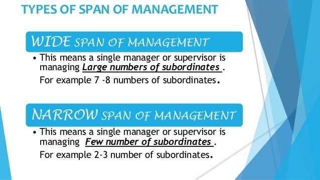 span of management It is very important to understand span of control and organizational structure  when  height: as there are levels of management, or hierarchy, an organization .