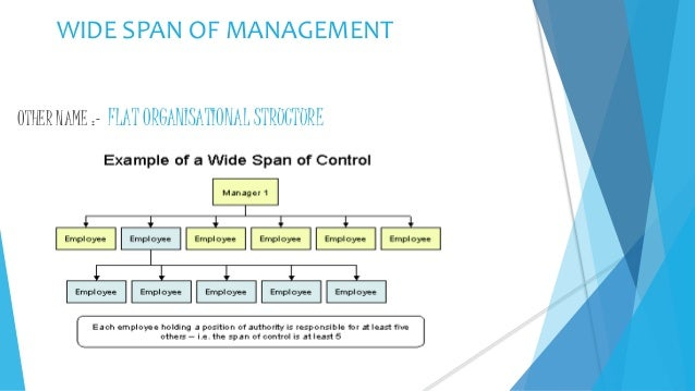span of control principle of management